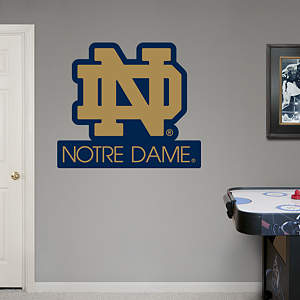 Notre Dame Fighting Irish ND Logo Fathead Wall Decal